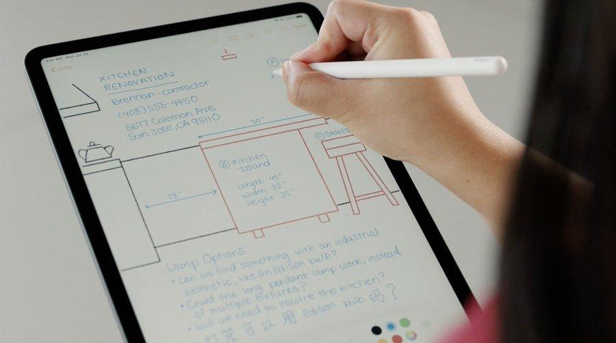 présentation des nouveautés sur iPad OS avec l'Apple Pencil