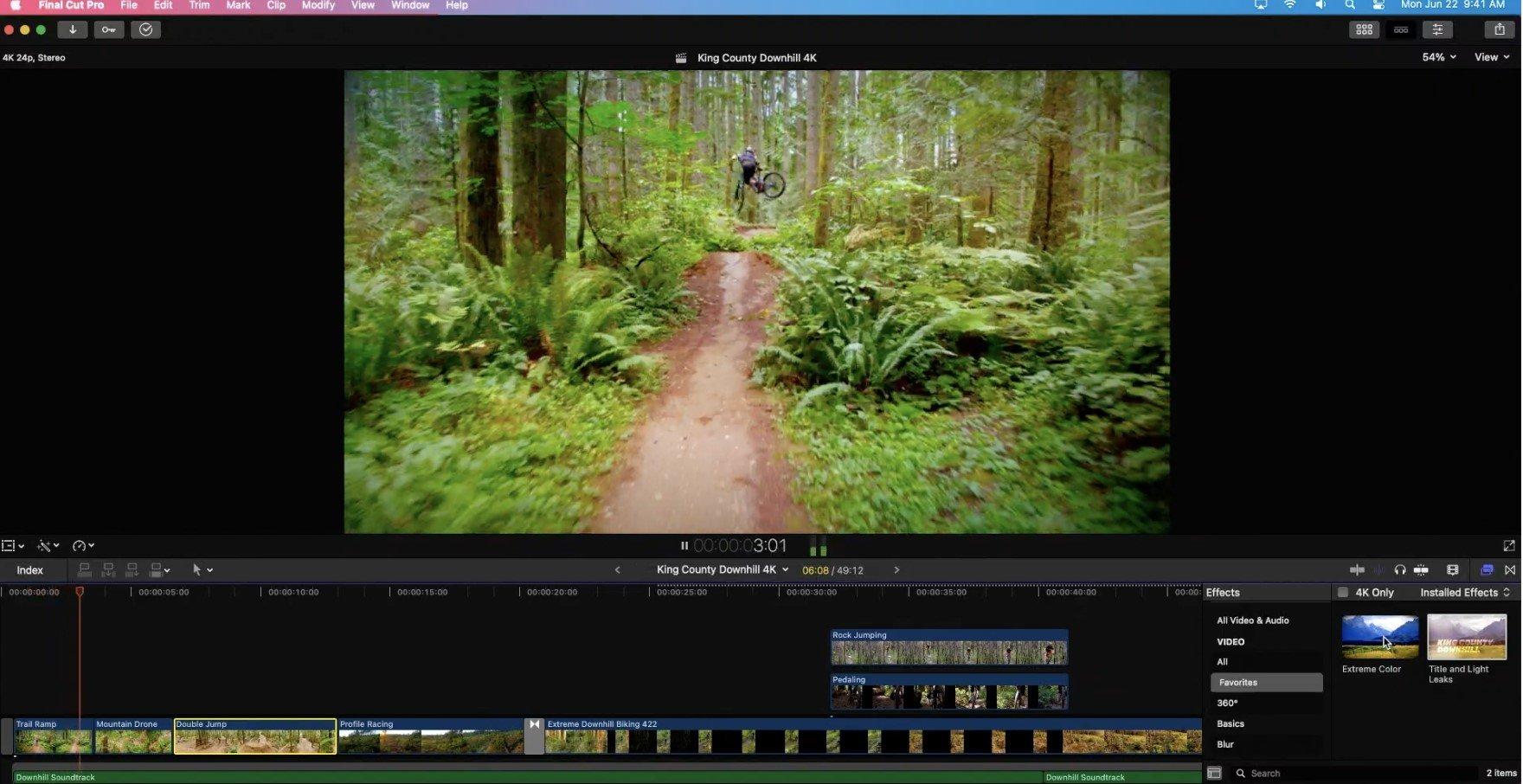 Final Cut Pro lancé sur le nouveau mac ARM