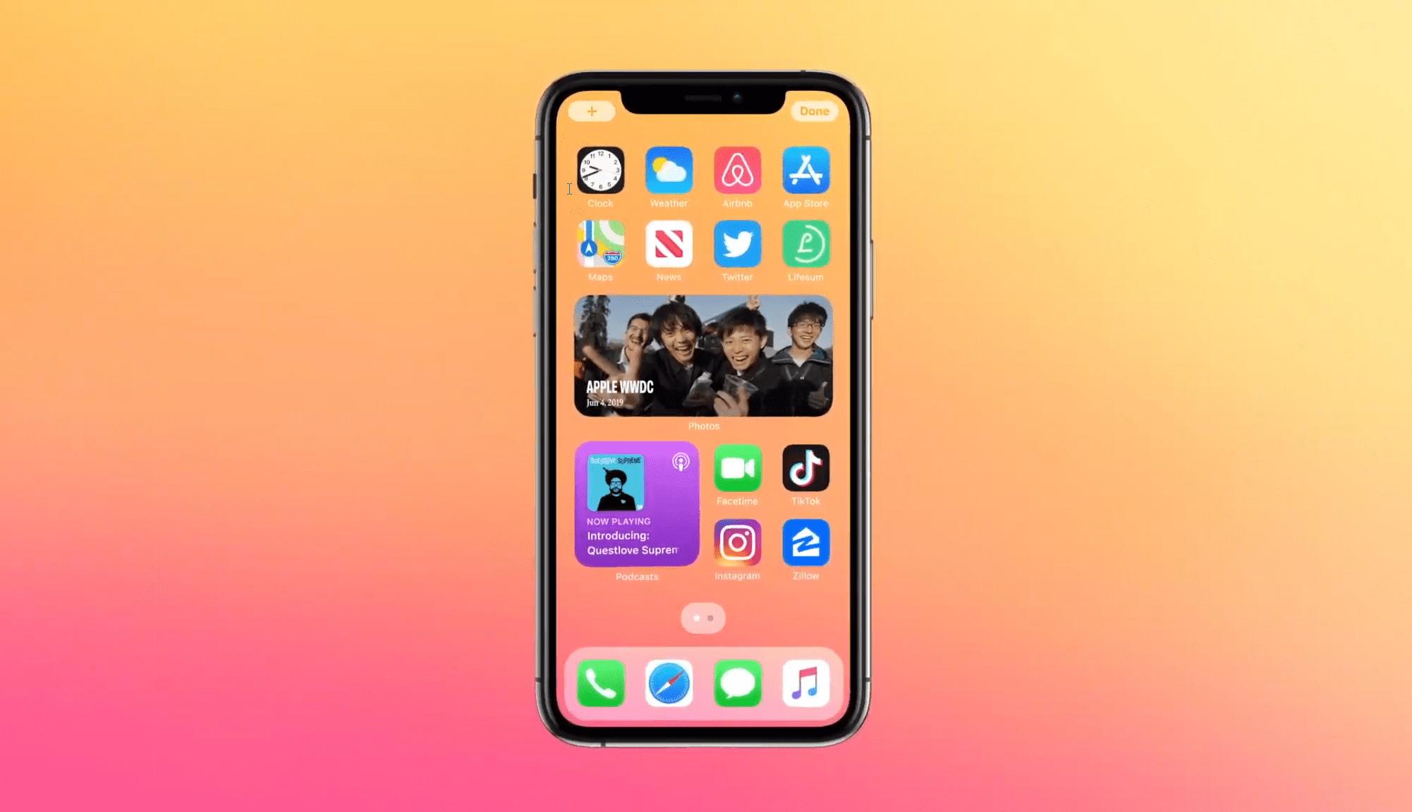apple présente iOS 14 lors de la conférence développeurs 2020