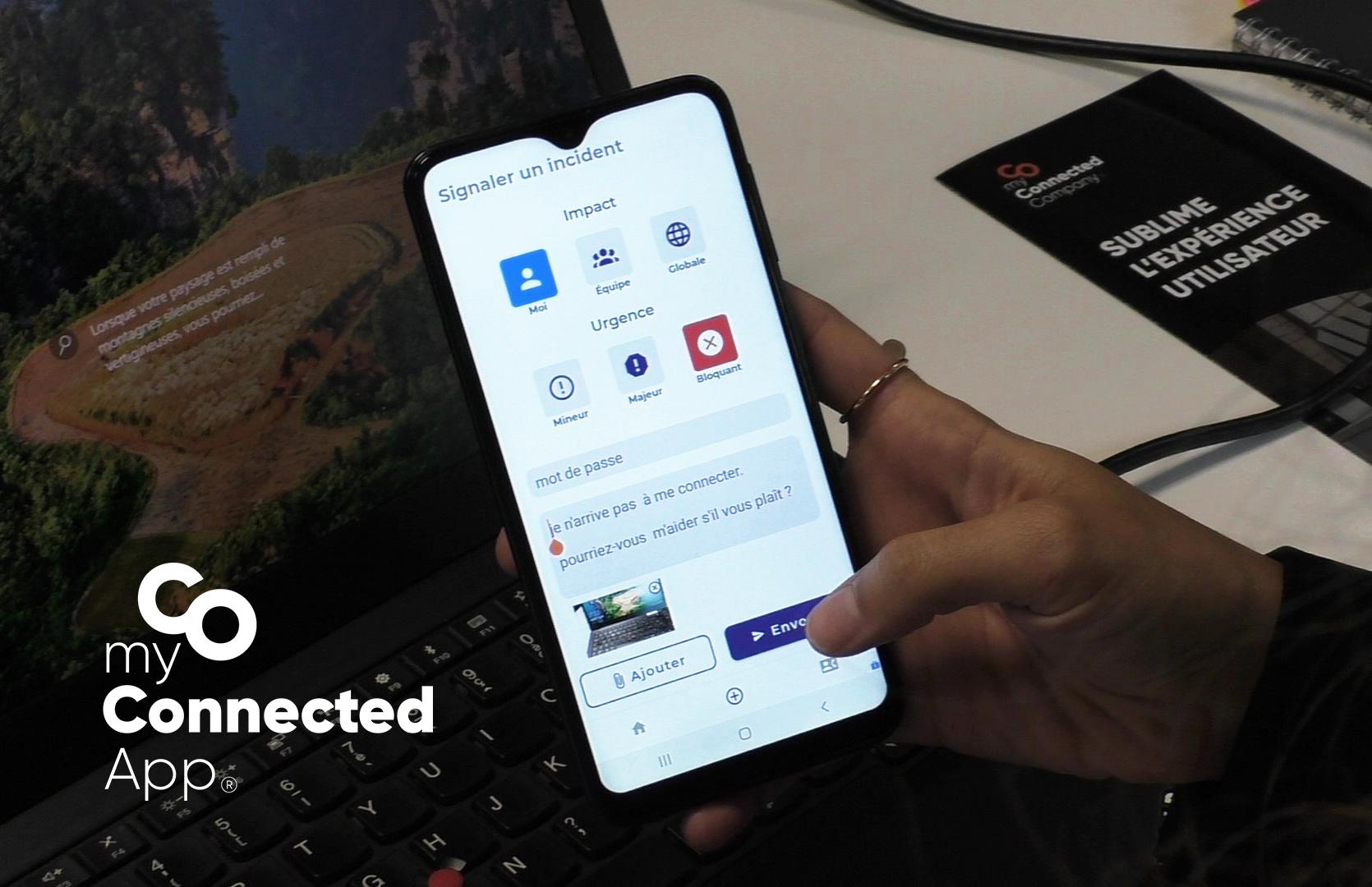 myconnectedapp une application pour toute l'entreprise helpline