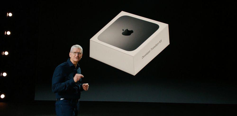 tim cook présente Apple Silicon