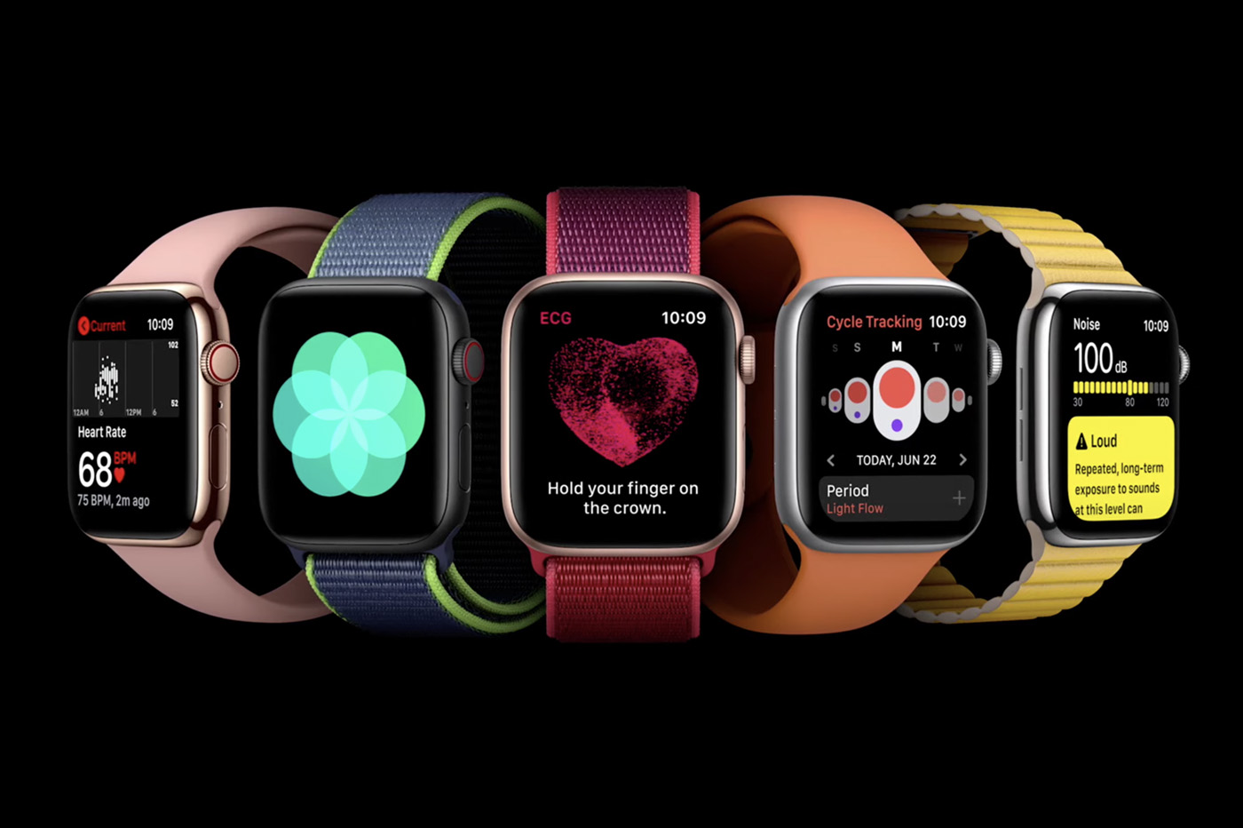 capture de la WWDC 2020 avec l'Apple Watch et le nouveau watchOS 7