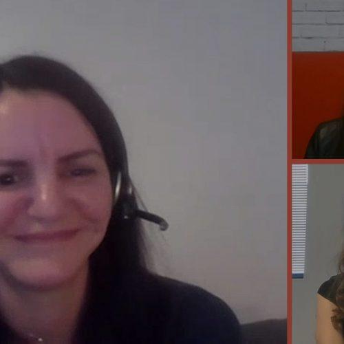 Capture de l'interview avec Roxana, Mélina et Ingrid